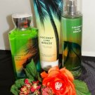 B & B W COCONUT LIME BREEZE 3 PC BATH SET