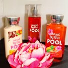 BATH & BODY WORKS SUNSET BY THE POOL 3 PC BATH SET