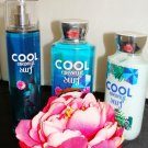 BATH & BODY WORKS COOL COCONUT SURF 3 PC BATH SET