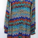 VERONICA-M LONG SLEEVE GREEN TINGED PRINT TUNIC SIZES SM, MED