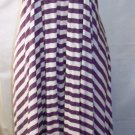 GRACIA SLEEVELESS STRIPE WHITE & PURPLE MAXI HI-LOW DRESS SIZE MED