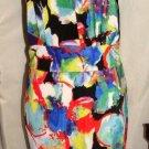 SYMPHONY SLEEVELESS MULTI-COLOR PRINT DRESS SIZE 2XL