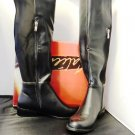 CALIENTE BLK KNEE HIGH RIDER BOOTS SIZE 8, 9, 11