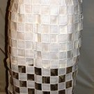GRACIA WHITE SQUARE DESIGN SKIRT SIZE SM