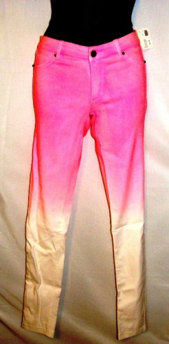 HOT & DELICIOUS DIPPED DYE PINK JEGGINGS SIZE SM, MED