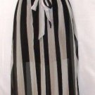 DOUBLE ZERO BLACK & WHITE SLEEVELESS MAXI DRESS SIZE SM