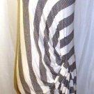 MYSTREE BLACK/WHITE SHORT SLEEVE DRESS SIZE, LG