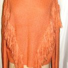 REHAB PEACH COLOR LONG SLEEVE SINGLE RIBBED COWL NECK SWEATER, SIZE SM , LG
