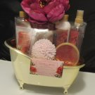SIMPLE PLEASURE VANILLA ROSE 7 PC BATH & BODY SET