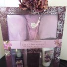 SIMPLE PLEASURES 5 PC LAVENDER ROBE & SLIPPER BATH SET