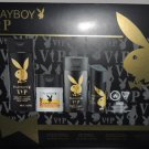 PLAYBOY LOVELY, ROCK, VIP MEN'S 4 PC BODY GIFT SET