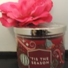 BATH & BODY WORKS TIS THE SEASON SCENTED 3 WICKED CANDLE