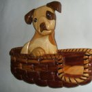 Terrier in Basket