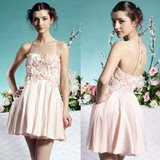 PINK SHORT PARTY DRESS S02