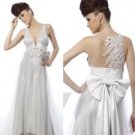 SILVER WHITE WEDDING DRESS S04