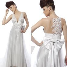 SILVER WHITE WEDDING DRESS S04