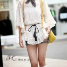 SH0013 - BAT SLEEVE LACE BLOUSE