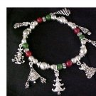Christmas Tree Stretchy Bracelet