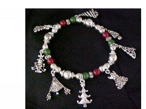Christmas Tree Stretchy Bracelet