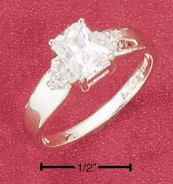 Cubic Zirconia Radiant Cut Ring