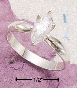 Cubic Zirconia Marquis Solitaire Engagement Ring