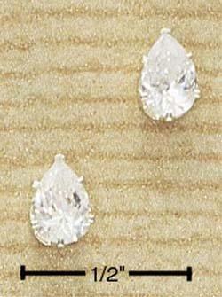 Cubic Zirconia Tear Drop Earrings