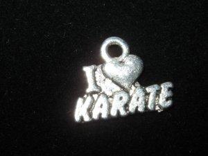 I love Karate Charm -- CLEARANCE 1/2 OFF