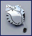 Sterling Silver Mask Cat Brooch