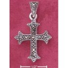 Sterling Silver Marcasite Small Cross