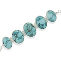 Turquoise Stone Toggle Bracelet