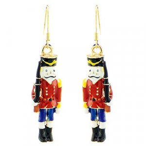 Christmas Toy Soldier Design Earring