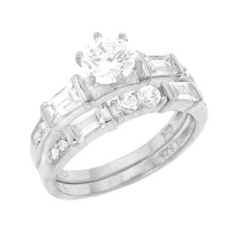 Cubic Zirconia Engagement 2 Set Ring