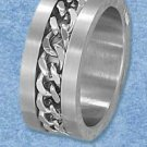 Stainless Steel Chain Link Brushed 10mm Band