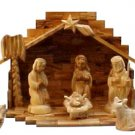 Nativity Large Olive Wood Stable w 13 pc Detailed Traditional Nativity Figures
