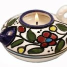 Armenian Pottery Oil Burner and Candle Holder