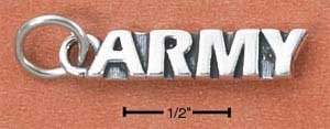 Army Charm in Sterling Silver  CH-2704
