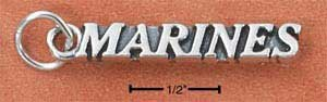 Marines Charm in Sterling Silver  CH-2705