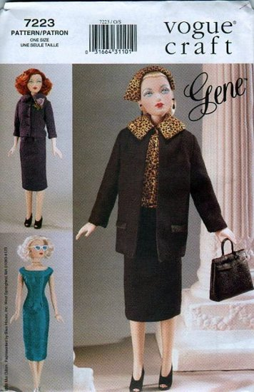 Gene 15 1/2 inch Fashion Doll Sewing Pattern 40'sBusiness Style 7223 NEW