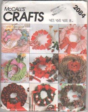 Create A Wreath For Each Season  McCall Craft Pattern NEW