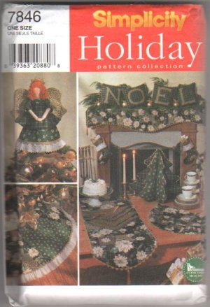 Christmas Home Décor Items, Simplicity Sewing Pattern 7846