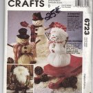Christmas Home Décor Snowmen and Tree Ornaments 6723