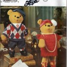 Stuffed Bear Couple and Outfits 15in (38cm) 8265