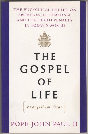 evangelium vitae or the gospel of life essay Evangelium vitae, translated in english to the gospel of life, is a papal encyclical promulgated on 25 march 1995 by pope john paul iiit deals with issues pertaining to the sanctity of human life, including murder, abortion, euthanasia, and capital punishment, reaffirming the church's stances on said issues in a way generally considered.