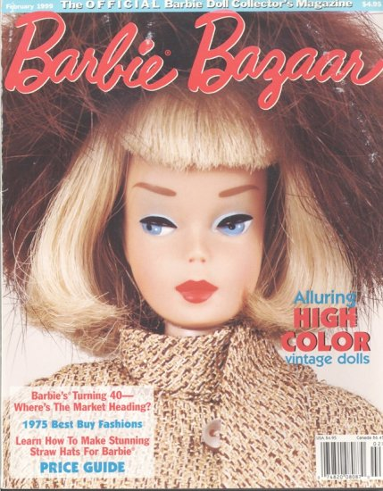 Barbie Bazaar Fashion Doll Collector Magazine February 1999 OOP