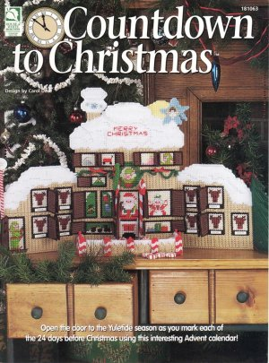 Countdown to Christmas Advent Calendar Plastic Canvas, New