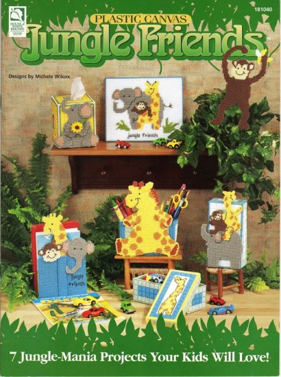 Jungle Friends Home Decoration Plastic Canvas Pattern Book New
