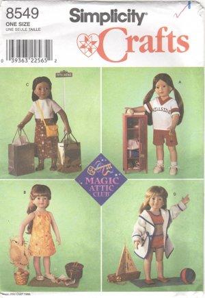 "Summer Wardrobe for Magic Attic, American Girl Type, 18"" (45.5cm) Girl Doll  8549 NEW"