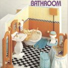 Barbie, Fashion Doll Bathroom, Plastic Canvas Pattern Book NEW