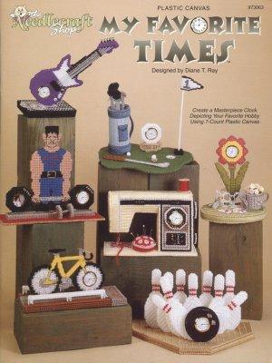 My Favorite Times, Decorative Clocks, Plastic Canvas  NEW