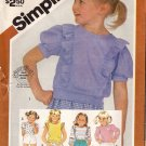 Girls Stretch-knit Pullover Tops Pattern, Size 3-6 PARTIAL CUT